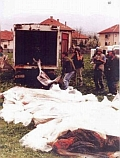 Civilians from Ahmići killed by Croatian troops