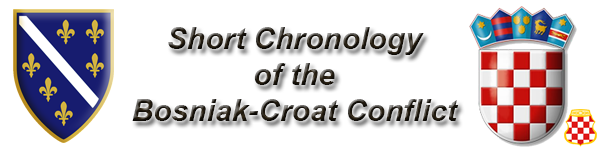Short Chronology of the Bosniak-Croat war