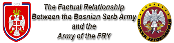 The Factual Relationship Between the Bosnian Serb Army and the Army of the Federal Republic of Yugoslavia