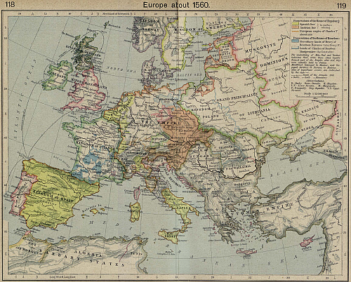 Europe about 1560 AD