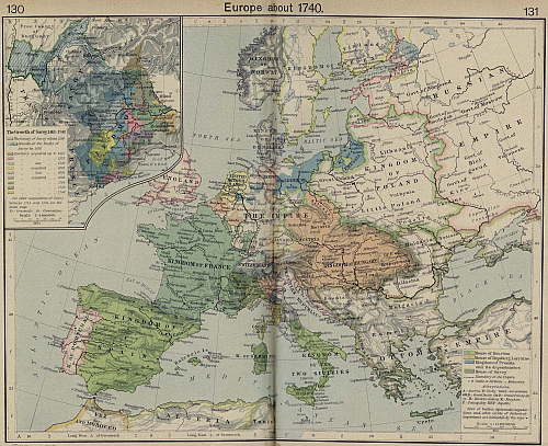 Europe about 1740 AD