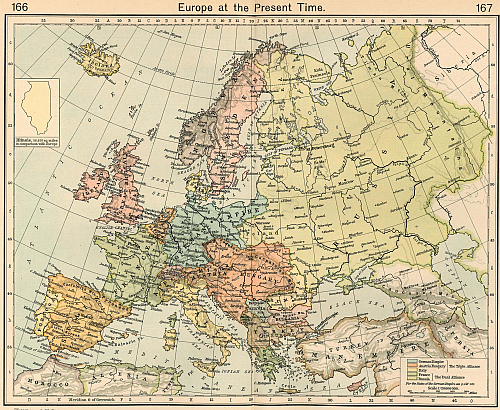 Europe in 1911 AD