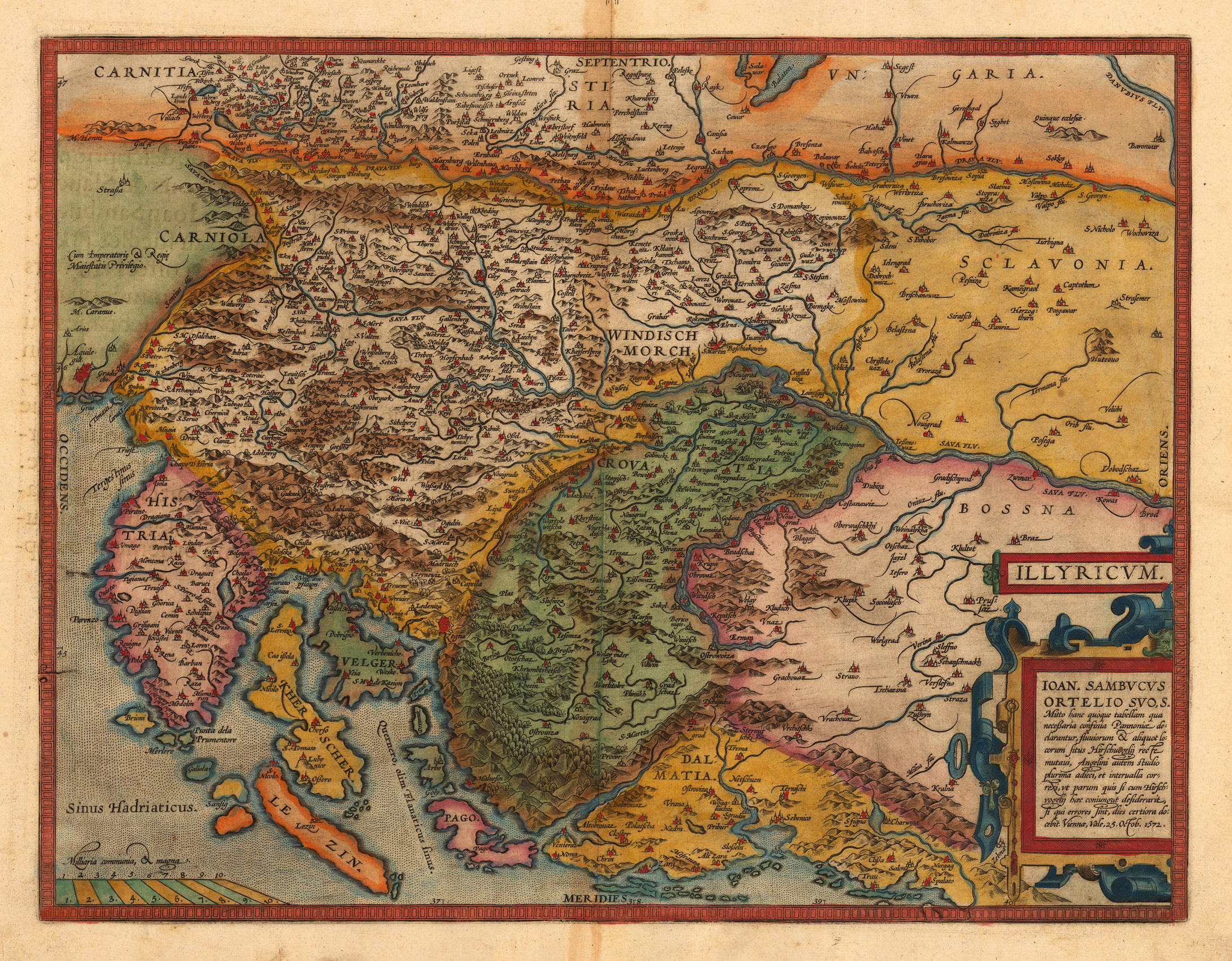 Map Of Europe 1560.Historical Maps Bosniafacts Info