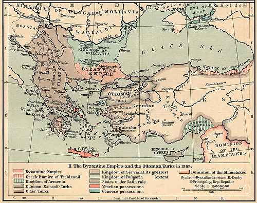 The Byzantine Empire and the Otoman Turks; Year 1355