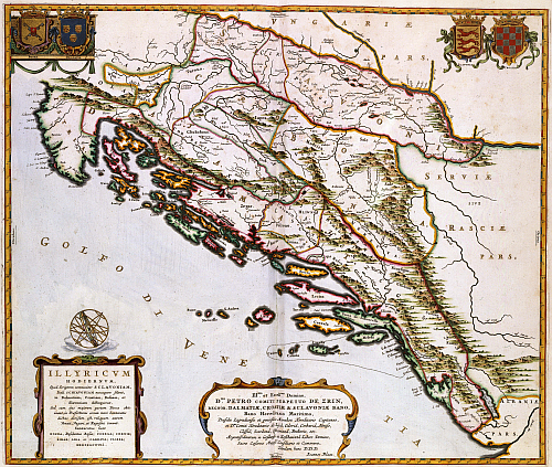 The eastern coast of the Adriatic; Year about 1663