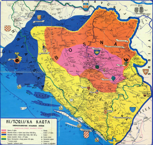 Historical map of the Bosnian State